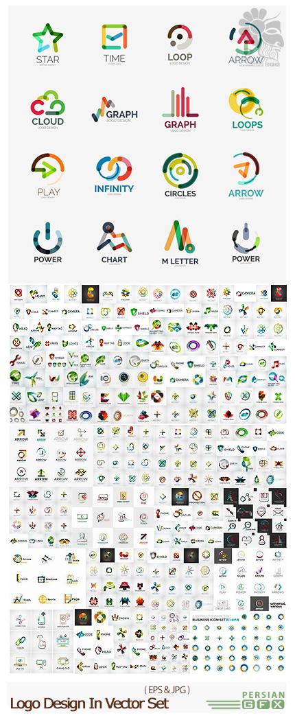 دانلود تصاویر وکتور آرم و لوگوی فانتزی - Logo Design In Vector Set From Stock