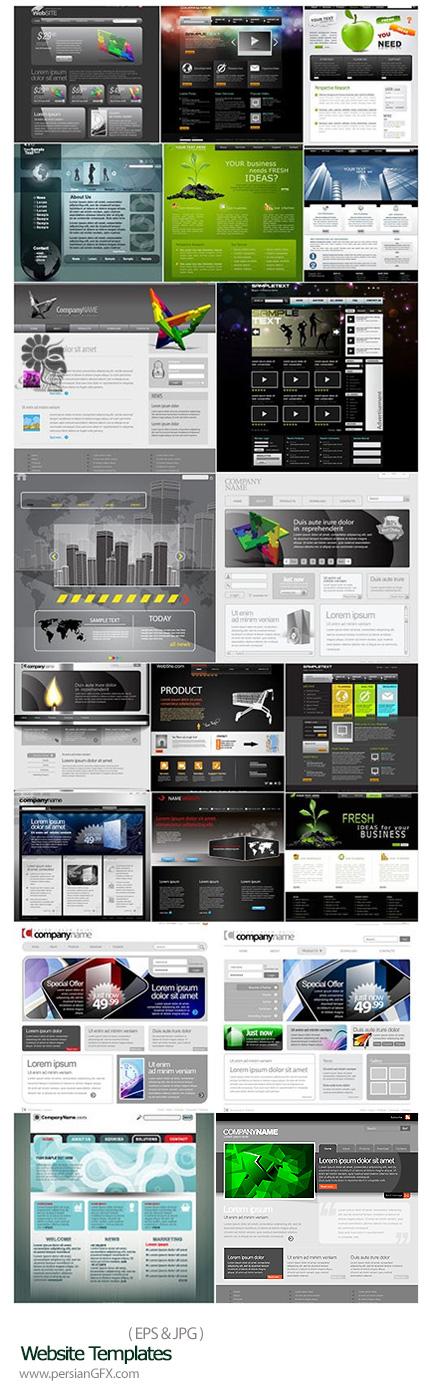 دانلود تصاویر وکتور قالب های آماده وب - Website Templates
