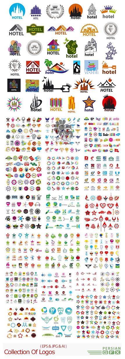 دانلود تصاویر وکتور آرم و لوگوی متنوع - Collection Of Logos