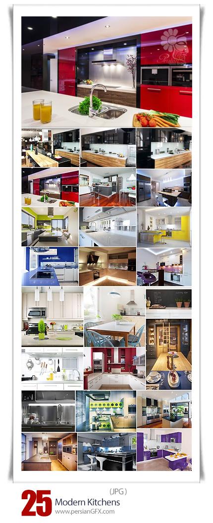 دانلود تصاویر با کیفیت طراحی داخلی آشپزخانه مدرن - Modern Kitchens