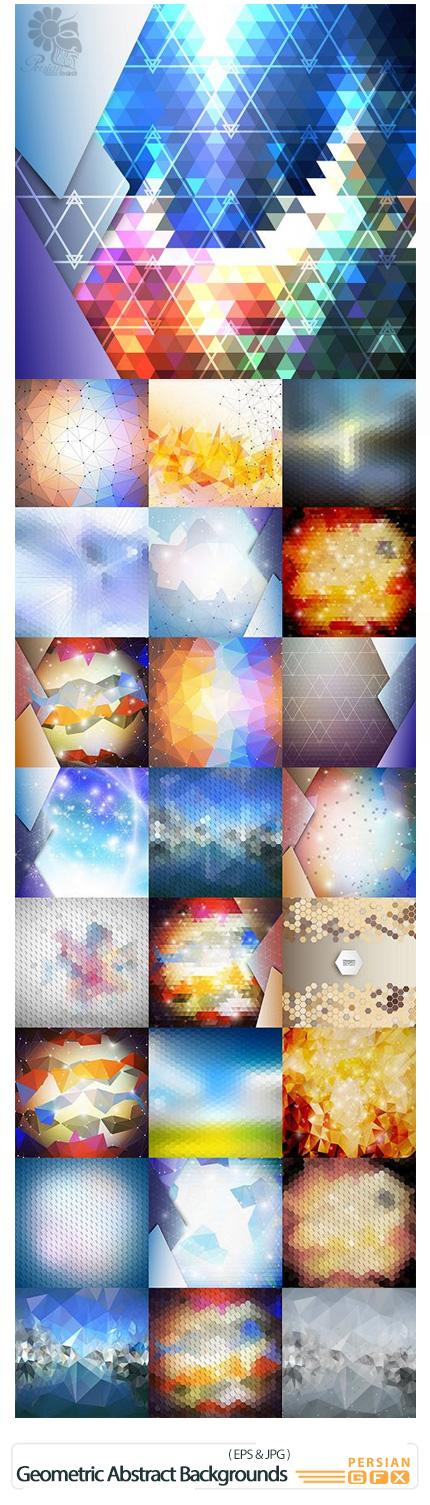 دانلود تصاویر وکتور پس زمینه های انتزاعی اشکال هندسی - Geometric Abstract Backgrounds