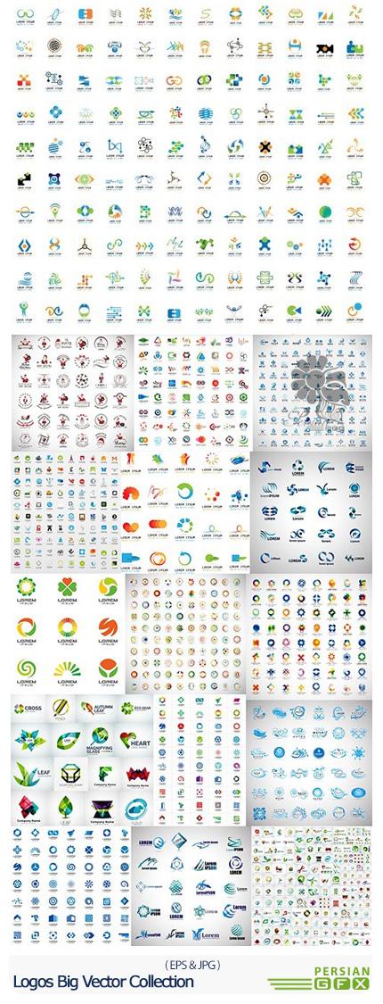 دانلود مجموعه تصاویر وکتور آرم و لوگوی متنوع - Logos Big Vector Collection