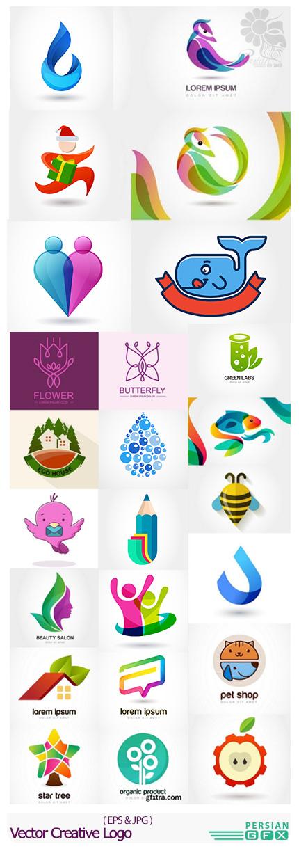 دانلود تصاویر وکتور آرم و لوگوی خلاقانه - Vector Creative Logo