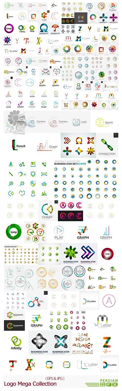دانلود مجموعه تصاویر وکتور لوگوی های فانتزی - Logo Mega Collection