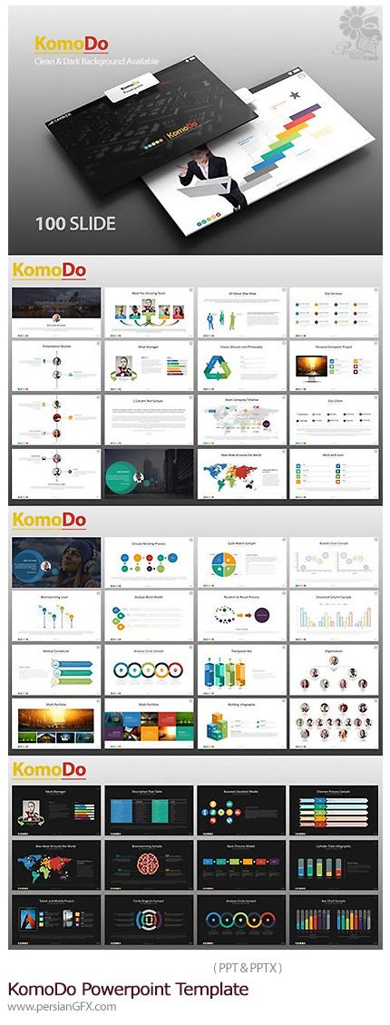 دانلود مجموعه قالب های آماده تجاری پاورپوینت از گرافیک ریور - KomoDo Powerpoint Template