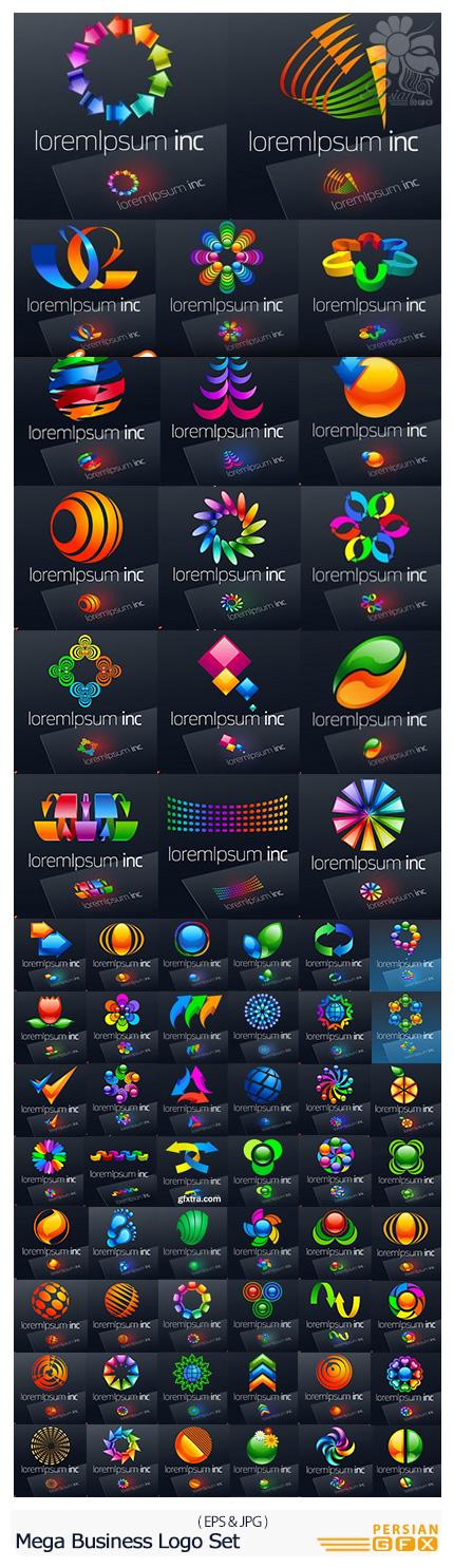 دانلود مجموعه تصاویر وکتور آرم و لوگوی تجاری متنوع - Stock Vector Mega Business Logo Set