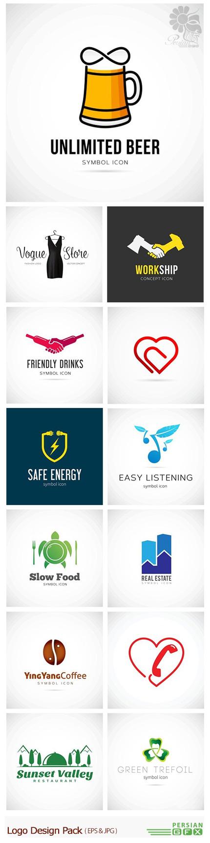 دانلود تصاویر وکتور آرم و لوگوی فانتزی - Logo Design Pack