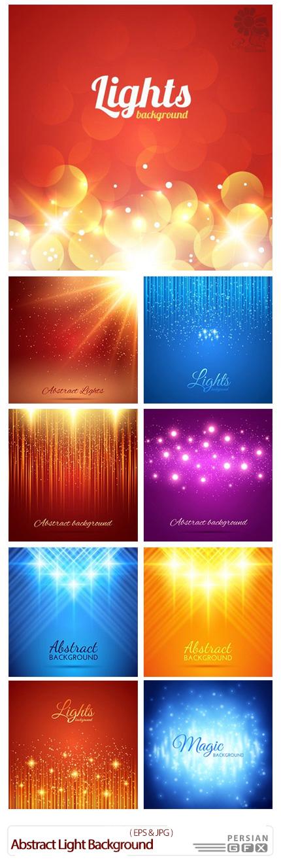 دانلود تصاویر وکتور پس زمینه های نورانی انتزاعی - Abstract Light Background