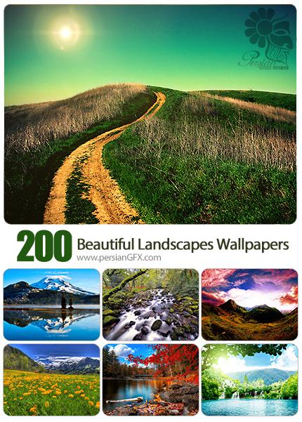 دانلود مجموعه والپیپرهای مناظر زیبا - 200 Beautiful Landscapes HD Wallpapers