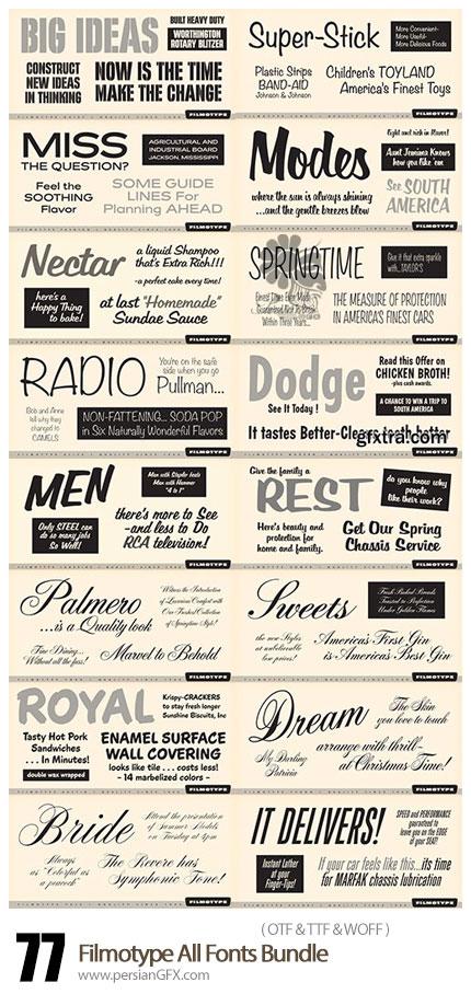 دانلود مجموعه فونت های لاتین متنوع - Filmotype All Fonts Bundle