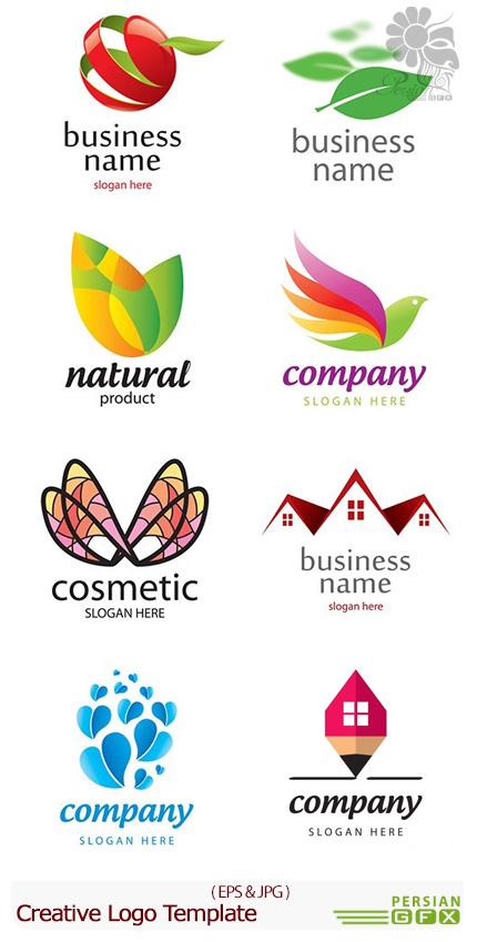 دانلود تصاویر وکتور آرم و لوگوی خلاقانه - Creative Logo Template