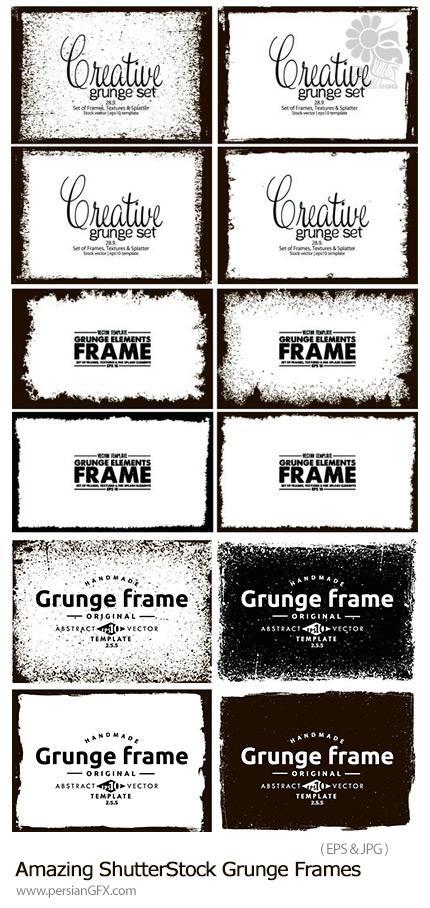 دانلود تصاویر وکتور فریم گرانج از شاتراستوک - Amazing ShutterStock Grunge Frames