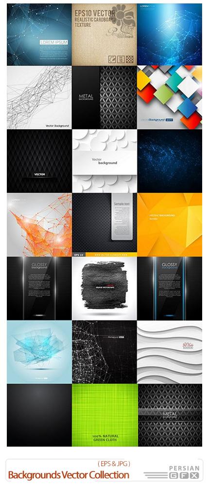 دانلود تصاویر وکتور پس زمینه های انتزاعی متنوع - Backgrounds Vector Collection