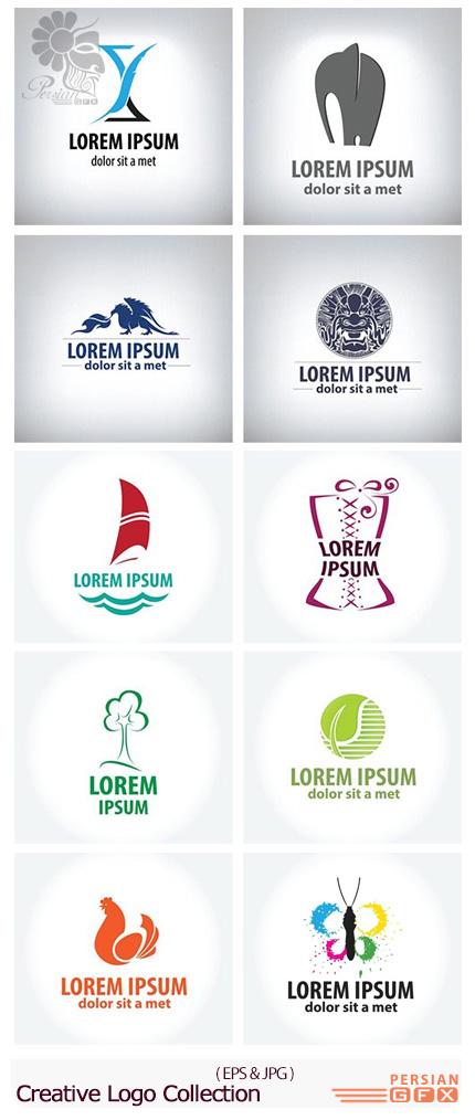 دانلود تصاویر وکتور آرم و لوگوهای خلاقانه - Creative Logo Collection