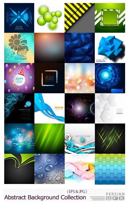 دانلود تصاویر وکتور پس زمینه های انتزاعی متنوع - Abstract Background Collection