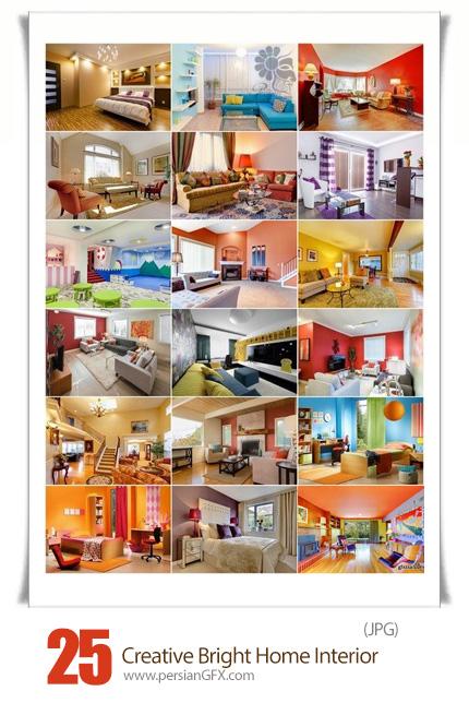 دانلود تصاویر با کیفیت طراحی داخلی مدرن خانه - Creative Bright Home Interior