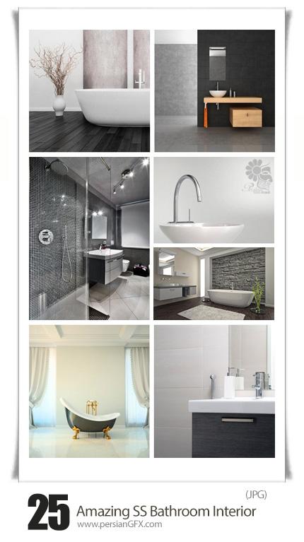 دانلود تصاویر با کیفیت طراحی داخلی حمام و دستشویی از شاتر استوک - Amazing Shutterstock Bathroom Interior