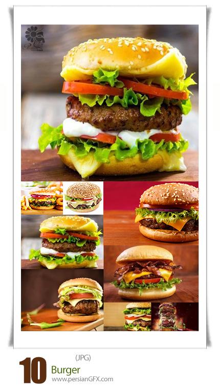 دانلود تصاویر با کیفیت همبرگر، چیزبرگر، سیب زمینی - Burger