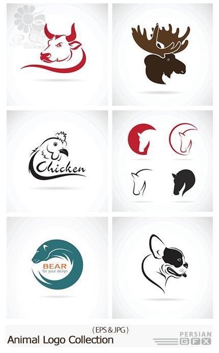 دانلود تصاویر وکتور لوگوهای متنوع حیوانات - Animal Logo Collection