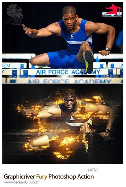 دانلود اکشن فتوشاپ ایجاد افکت خشم بر روی تصاویر از گرافیک ریور - Graphicriver Fury Photoshop Action