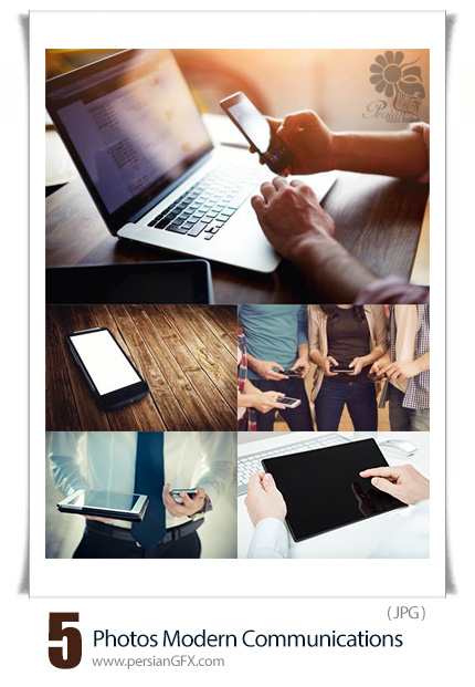 دانلود تصاویر با کیفیت وسایل ارتباطی مدرن، موبایل، لپ تاپ، تبلت - Photos Modern Communications