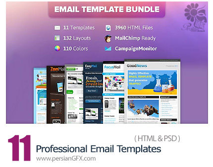 دانلود 11 قالب آماده حرفه ای ایمیل از ChocoTemplates - 11 Professional Email Templates From ChocoTemplates