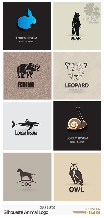 دانلود تصاویر وکتور آرم و لوگوی حیوانات - Silhouette Animal Logo