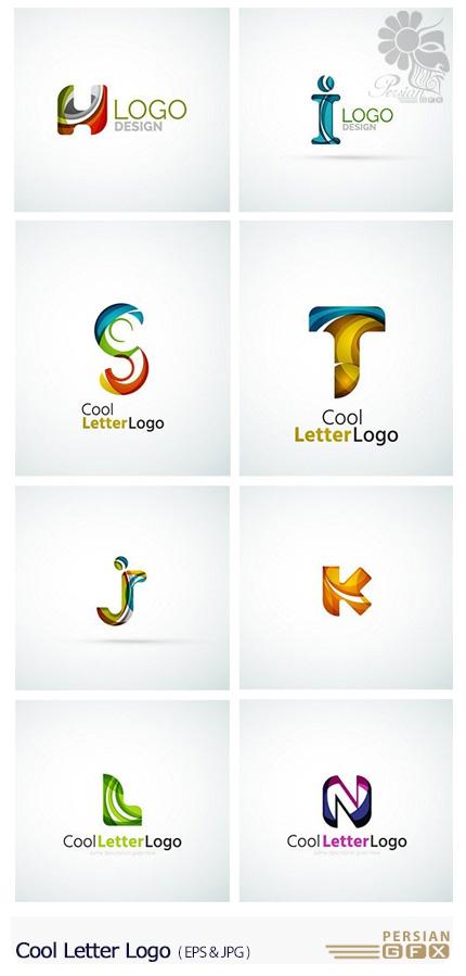 دانلود تصاویر وکتور آرم و لوگوی حروف انگلیسی - Cool Letter Logo