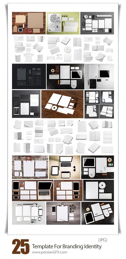 دانلود تصاویر با کیفیت قالب آماده ست اداری، بنر، کاتالوگ، دی وی دی، سربرگ و ... - Stock Photos Template For Branding Identity