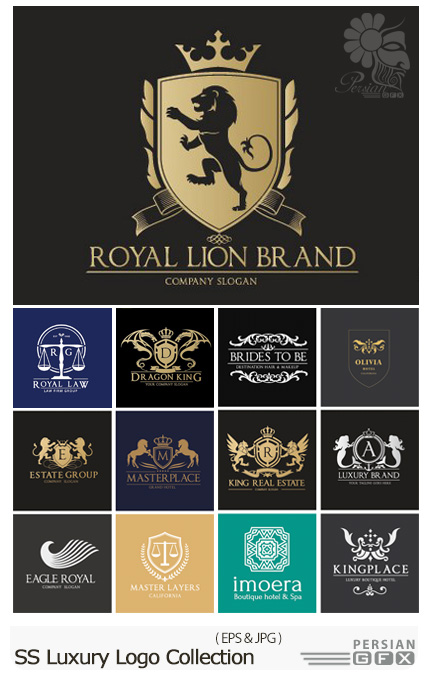 دانلود تصاویر وکتور آرم و لوگوی لوکس از شاتر استوک - Amazing ShutterStock Luxury Logo Collection