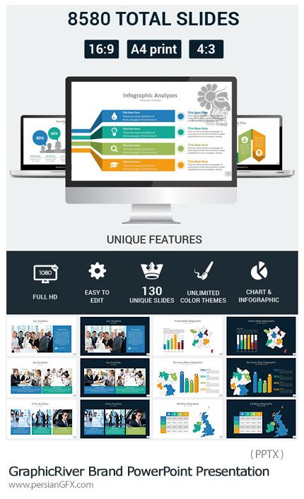 دانلود مجموعه قالب های آماده تجاری پاورپوینت - GraphicRiver Brand PowerPoint Presentation Template