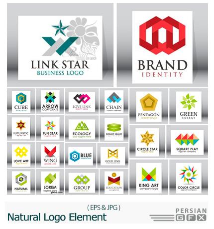 دانلود تصاویر وکتور قالب های آماده آرم و لوگوی تجاری با طرح های انتزاعی - Natural Logo Element Or Vector Design Shape Icon