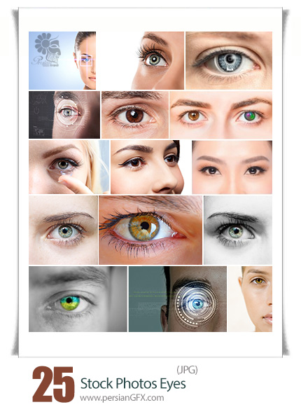 دانلود تصاویر با کیفیت چشم های رنگی متنوع - Stock Photos Eyes