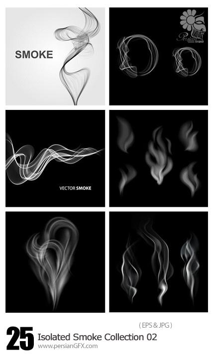 دانلود تصاویر وکتور دود - Isolated Smoke Collection 02