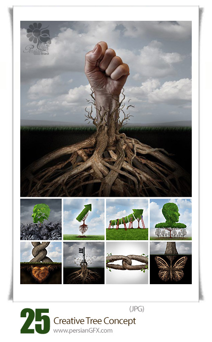 دانلود تصاویر مفهومی درختان خلاقانه -  Creative Tree Concept