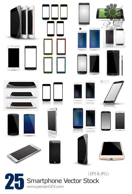 دانلود تصاویر وکتور گوشی های هوشمند - Smartphone Vector Stock