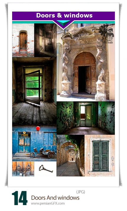 دانود تصاویر با کیفیت درب و پنجره قدیمی - Doors And Windows
