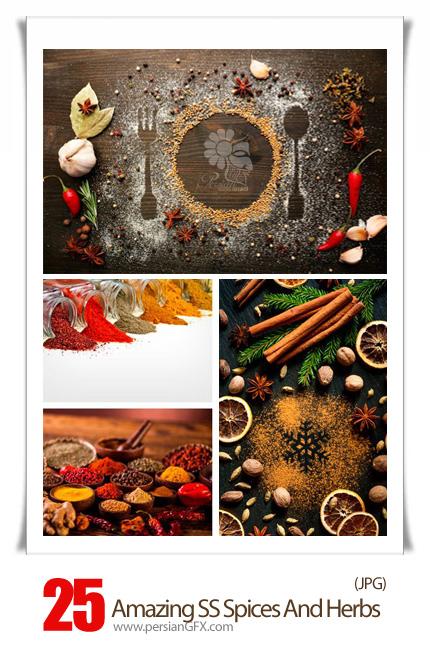 دانلود تصاویر با کیفیت ادویه، سبزیجات، نمک و فلفل، زردچوبه و ... از شاتر استوک - Amazing Shutterstock Spices And Herbs