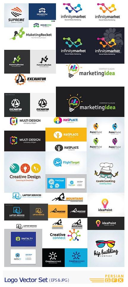 دانلود تصاویر وکتور آرم و لوگوی فانتزی - Logo Vector Set