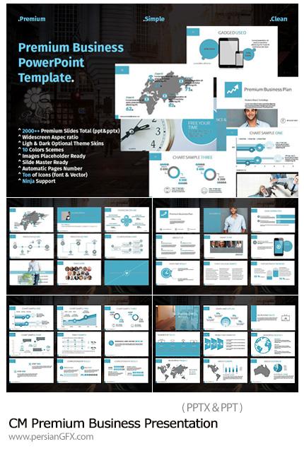 دانلود مجموعه قالب های آماده تجاری پاورپوینت - CM Premium Business Presentation