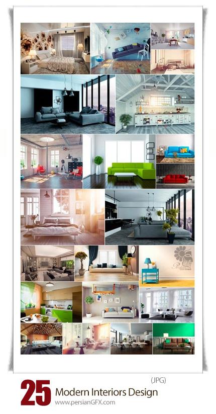 دانلود تصاویر با کیفیت طراحی داخلی مدرن - Modern Interiors Design