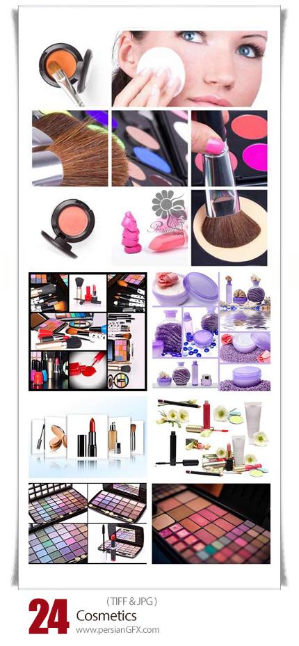 دانلود تصاویر با کیفیت لوازم آرایشی، رژ لب، رژ گونه، سایه چشم، کرم پودر و ... - Cosmetics