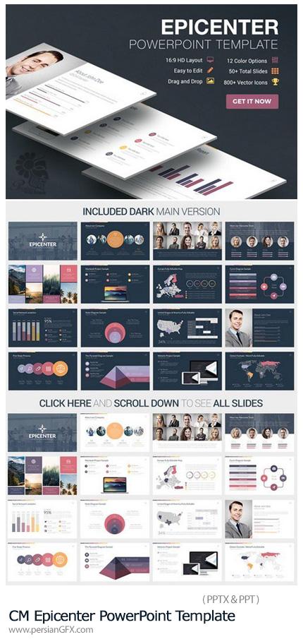 دانلود مجموعه قالب های آماده تجاری پاورپوینت - CM Epicenter PowerPoint Template