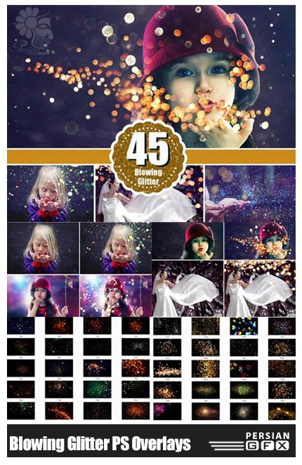 دانلود 45 تصویر کلیپ آرت افکت های بوکه متنوع برای عکس ها - CM Blowing glitter Photoshop Overlays