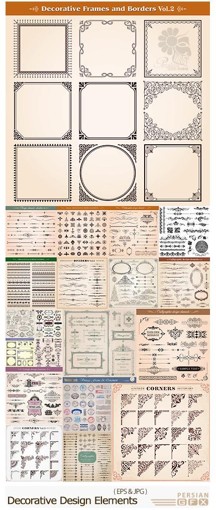 دانلود تصاویر وکتور عناصر تزئینی متنوع - Decorative Design Elements