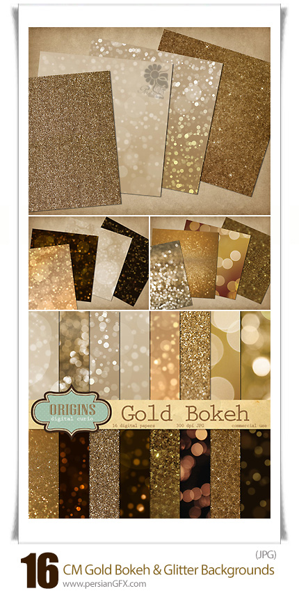 CM Gold Bokeh And Glitter Backgrounds