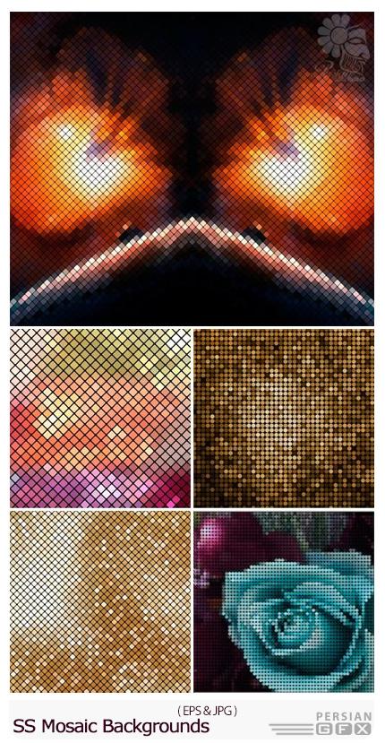 دانلود تصاویر وکتور پس زمینه های موزاییکی از شاتر استوک - Amazing ShitterStock Mosaic Backgrounds