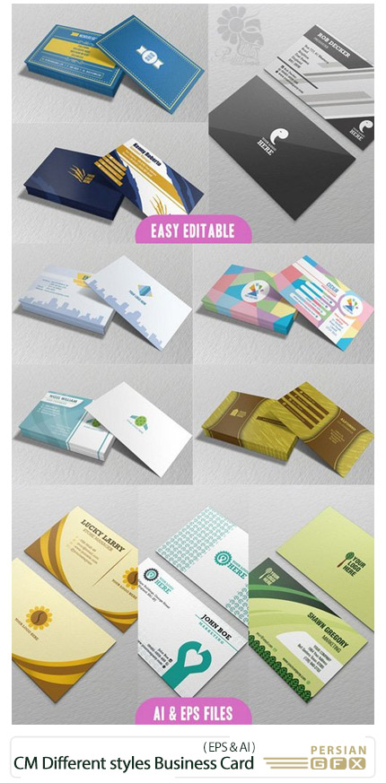 CM 12 Different styles Business Card