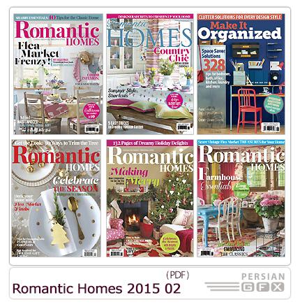 دانلود مجله دکوراسیون داخلی خانه رمانتیک و وسایل تزئینی - Romantic Homes 2015 Full Year Issues Collection 02