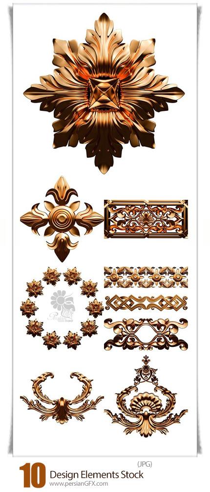 دانلود تصاویر با کیفیت عناصر تزئینی متنوع - Design Elements Stock